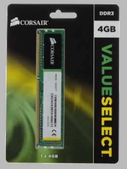 Память DIMM DDR3 4096MB PC12800 1600MHz Corsair 11-11-11-30 Retail